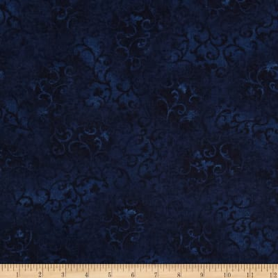 "108"" Essential Flannel Quilt Back Navy"
