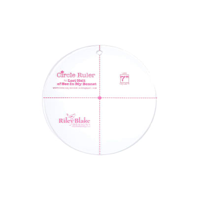 "Lori Holt Circle Ruler 6"" Clear"