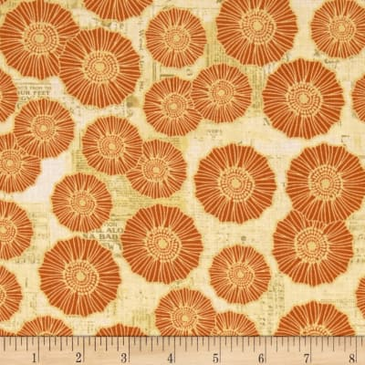 Bright and Early Floral Newsprint Orange