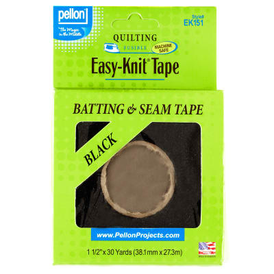 1-1/2'' Pellon ST-EK151 Easy-Knit Tape Black - 30 Yards/Pkg