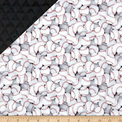 Sports Double Sided Quilted Baseballs White