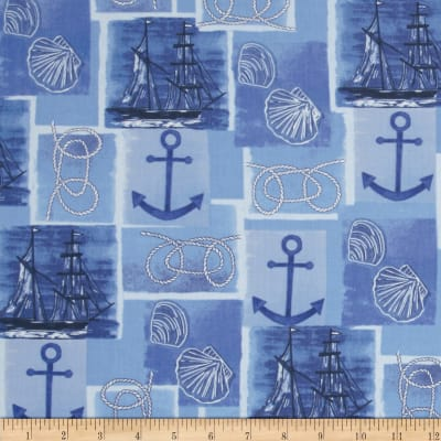 Harbor Point Nautical Patchwork Blue