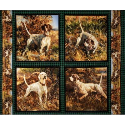 Wild Wings Point North Dog Pillow Panel Multi