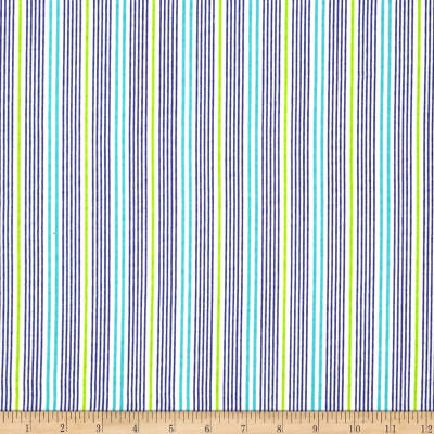 Aunt Polly's Flannel Stripe White/Blue/Green
