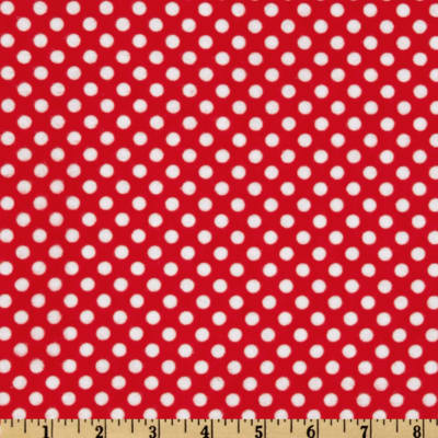 Flannel Polka Dots Red