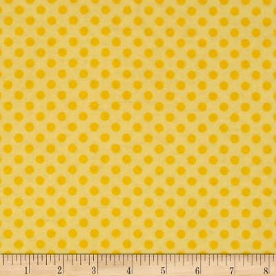 Flannel Polka Dots Yellow