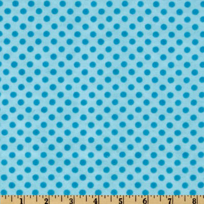 Camelot Flannel Polka Dots Turquoise