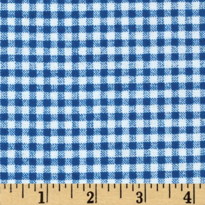 Flannel Gingham Royal