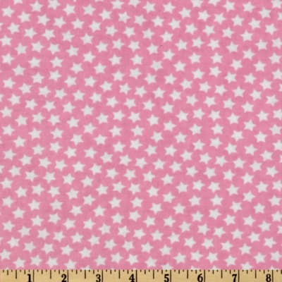 Camelot Flannel Stars Pink