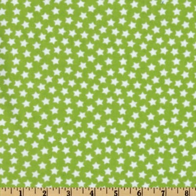 Flannel Stars Lime