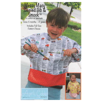 April Cobb Messy Macy Sleeved Bib & Smock Pattern