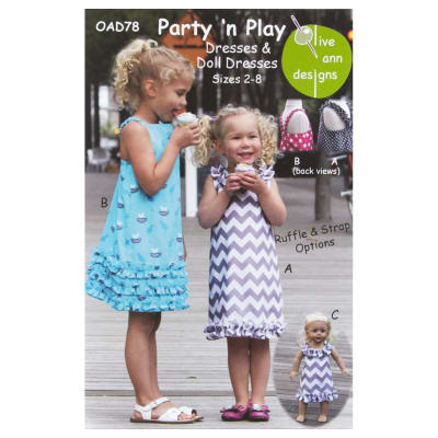 Olive Ann Designs Party 'N Play Dress Pattern