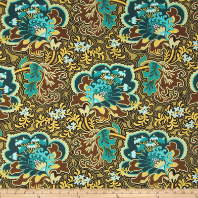 Amy Butler Belle Gothic Rose Turquoise