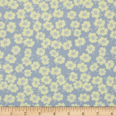 Secret Garden Daisy Dot Denim Lavender