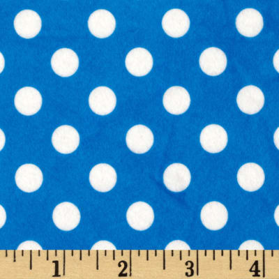 Minky Minnie Dots Royal Blue/White