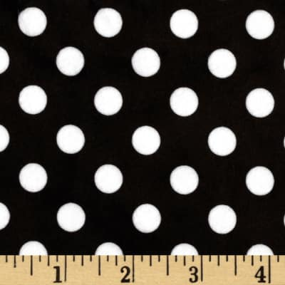 Minky Minnie Dots Black/White