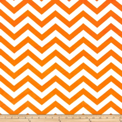 Minky 3/4'' Chevron White/Orange