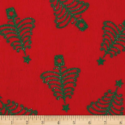 "Holiday Felt 9x 12"" Craft Cut Holiday Tree Red"