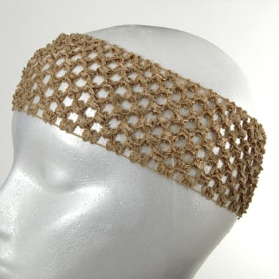 "2 3/4"" Crochet Headband Beige"