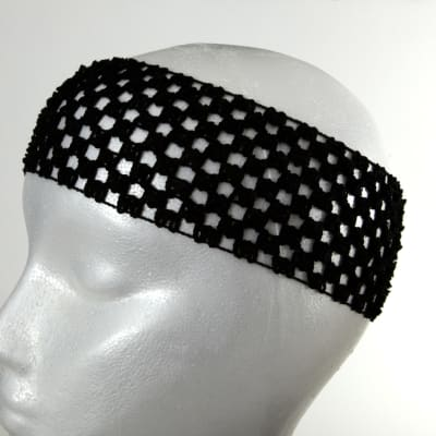 "2 3/4"" Crochet Headband Black"