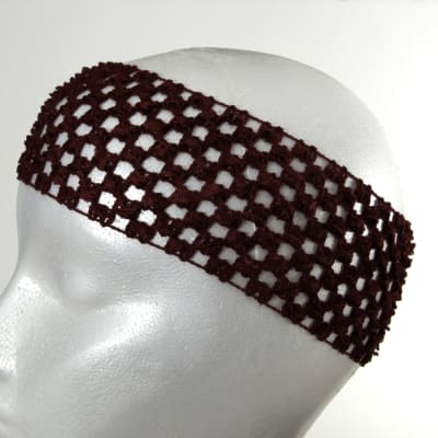 "2 3/4"" Crochet Headband Burgundy"