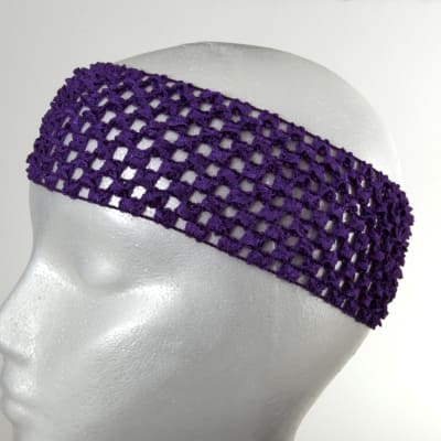"2 3/4"" Crochet Headband Purple"