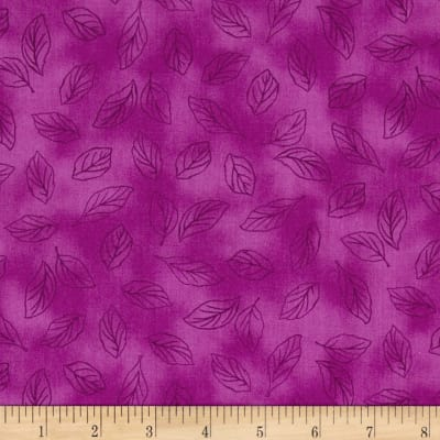 Lola Leaf Toile Red Violet
