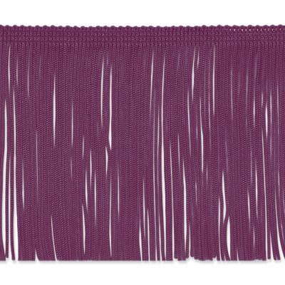 "4"" Chainette Fringe Trim Berry"