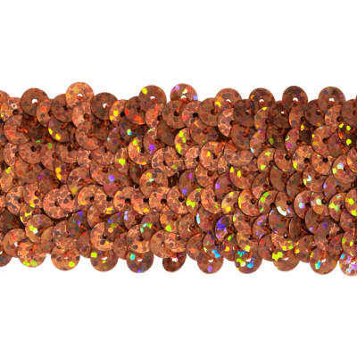 "1 1/2"" Hologram Stretch Sequin Trim Orange"