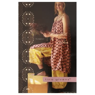 Tina Givens Strappy Frills Dress & Pants Pattern