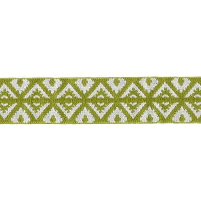 Dritz 1'' x 1 Yard Fold-Over Elastic Foulard Green/Grey