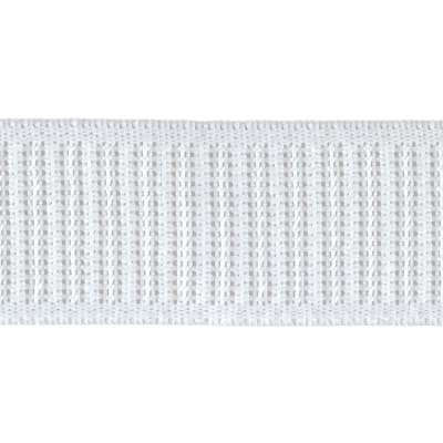 "1-1/4"" x 30 Non-Roll Ribbed Elastic White"
