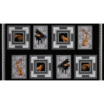 "Kanvas Concerto Symphony Square 24"" Panel Black"