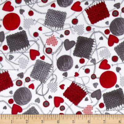 Kanvas Knitty Kitty Flannel Knitting 101 Red