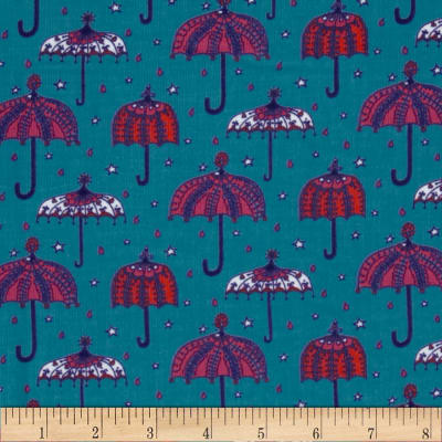Kaufman 21 Wale Cool Cords Umbrella Turquoise