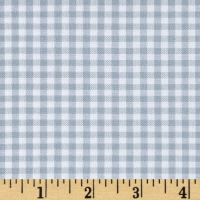 "Kaufman Woven 1/8"" Carolina Gingham Platinum"
