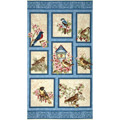 Birds of a Feather Panel Blue