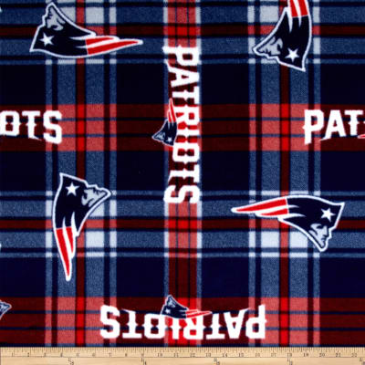 NFL New England Patriots Plaid Fleece Red/Blue