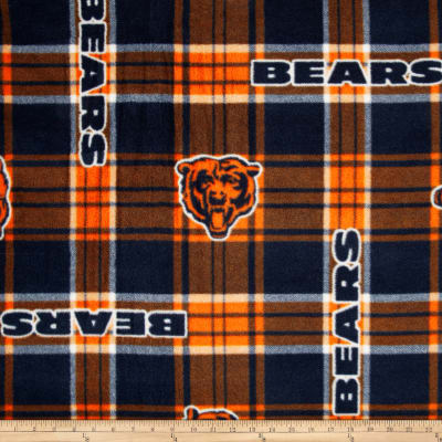 NFL Chicago Bears Plaid Fleece Blue/Orange