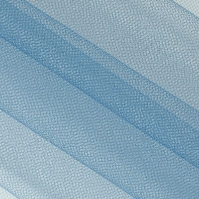 "108"" Apparel Grade Tulle Antique Blue"