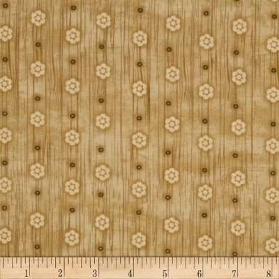 Woodland Critters Small Floral Beige