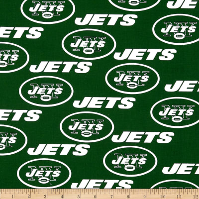 NFL Cotton Broadcloth NY Jets Green/White