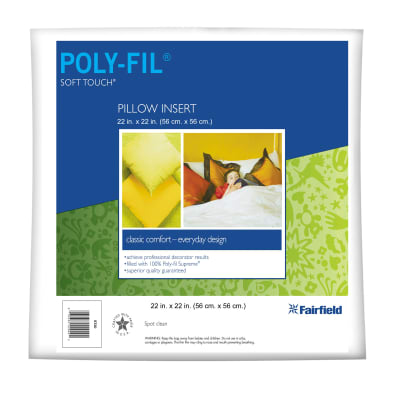 "Fairfield Soft Touch Supreme Poly-Fil Pillow 22"" Square"