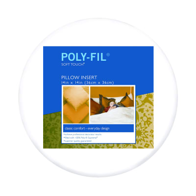 """Fairfield Soft Touch Supreme Poly-Fil Pillow 14"""" Round"""