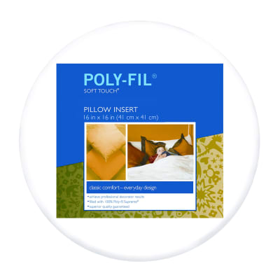 "Fairfield Soft Touch Supreme Poly-Fil Pillow 16"" Round"