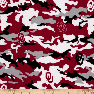 Collegiate Cotton Broadcloth University of Oklahoma Camouflage