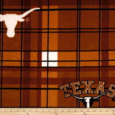 Collegiate Fleece University of Texas Plaid Orange/White