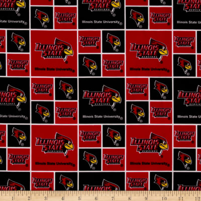 Collegiate Cotton Broadcloth Illinois State University Red