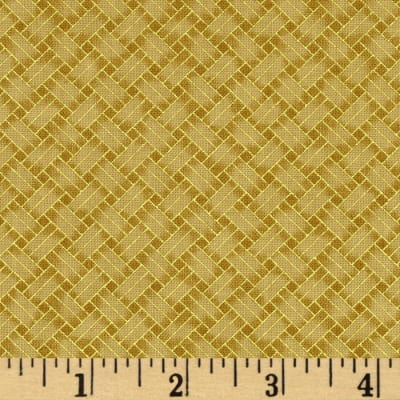 Oriental Traditions Metallic Trellis Weave Gold