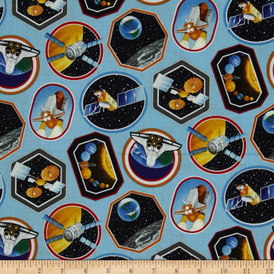 """I Want My Space 57"""" Wide Space Decals Light Blue"""